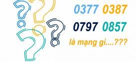 [Giải đáp nhanh] Sim đầu số 0377, 0387, 0797, 0857 mạng gì?