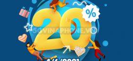 Khuyến mãi Vinaphone 4/6/2021 NGÀY VÀNG tặng 20% giá trị tiền nạp