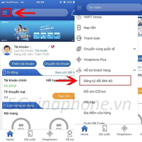Vinaphone cảnh báo lừa đảo đổi sim 4G Vinaphone