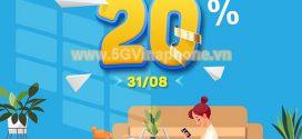 Vinaphone khuyến mãi ngày 31/8/2021 tặng 20% tiền nạp từ 50.000đ