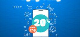 Vinaphone khuyến mãi ngày 17/9/2021 tặng 20% giá trị tiền nạp toàn quốc