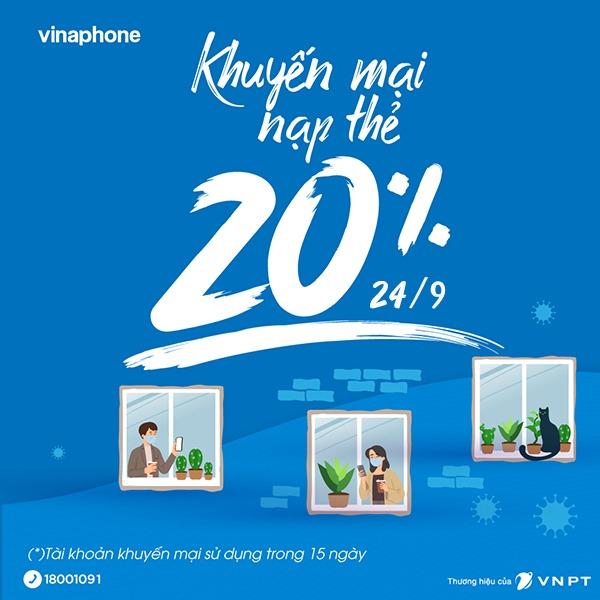 Vinaphone khuyến mãi ngày 24/9/2021 ưu đãi ngày vàng toàn quốc